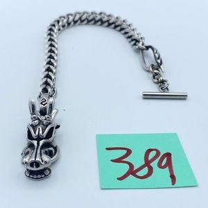 Vintage Silver Dragons Head Bracelet